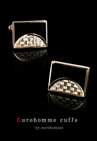eurohomme No.CG38 black pearl gold style cuffs