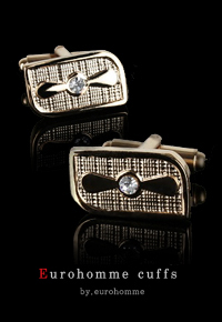 eurohomme No.CG69 cubic gold cuffs