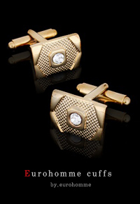 eurohomme No.CG27 gold cubic style cuffs